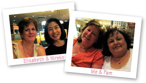 Elizabeth, Nireko, me and Pam
